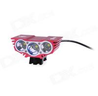 Фара велосипедная SolarStorm X3 RED NEW 3x XML-U2 2400Lum (КОМПЛЕКТ)