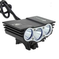 Фара велосипедная SolarStorm X3 BLACK NEW 3x XML-U2 2400Lum (КОМПЛЕКТ)